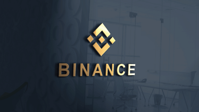 binance exchange logo on wall min - پشتیبانی بایننس از به روز رسانی Mainnet Nightingale!