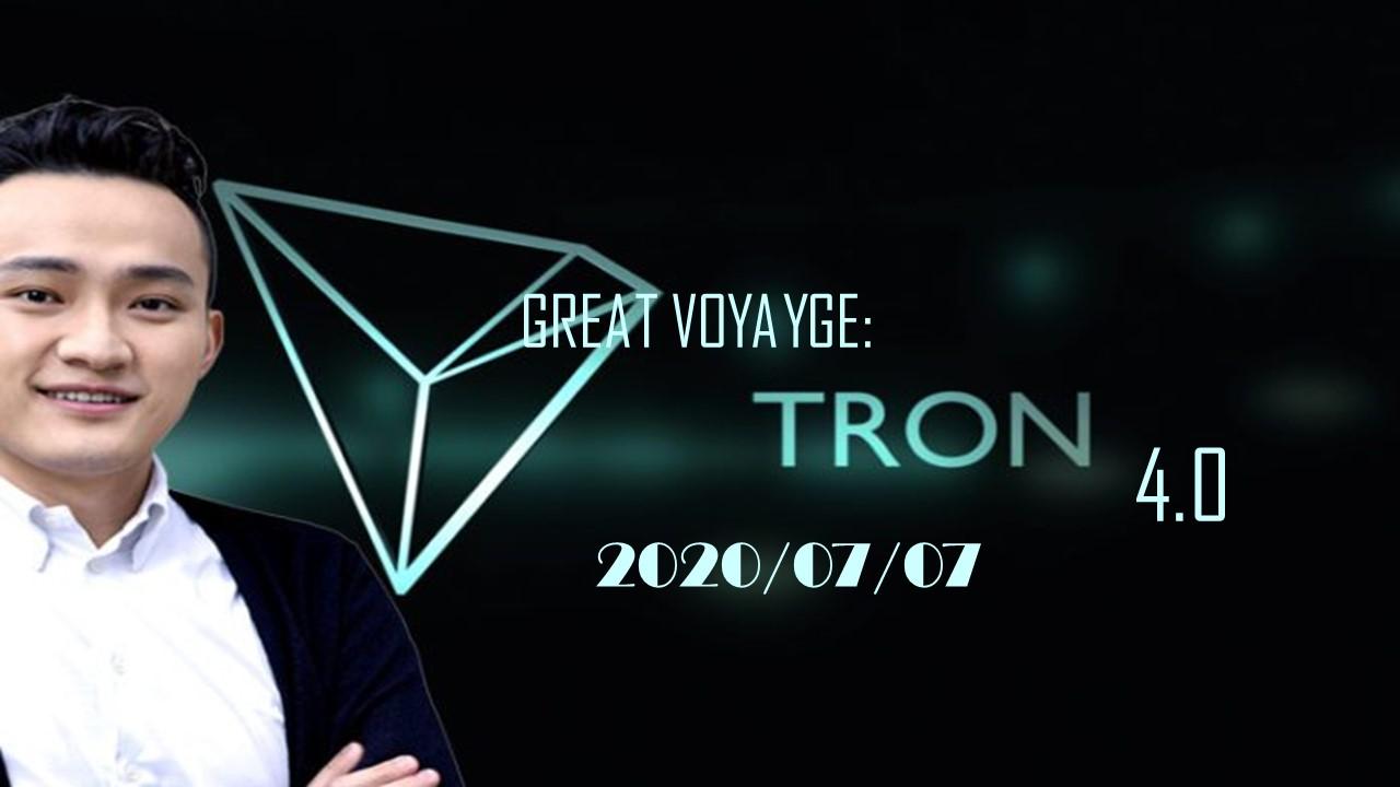 Great voyage - گزارش کنفرانس آنلاین جهانی رونمایی از ارز (Tron 4.0 (TRX