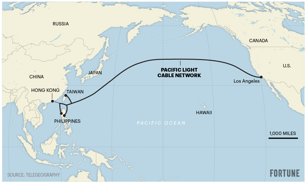 hk cable map 01 - انصراف گوگل و فیس بوک از ساخت کابل زیردریایی Trans-Pacific