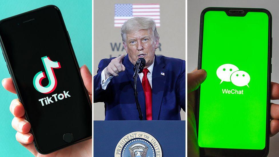 trump tt wc - ممنوعیت دانلود اپلیکیشن های TikTok و WeChat از یکشنبه30 شهریور
