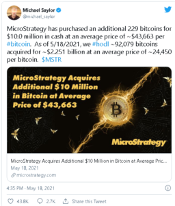screenshot coinquora.com 2021.05.18 20 41 13 256x300 - مدیر عامل صرافی بایننس از شرکت مایکرواستراتژی به علت خریداری اخیر بیت کوین، تقدیر کرد