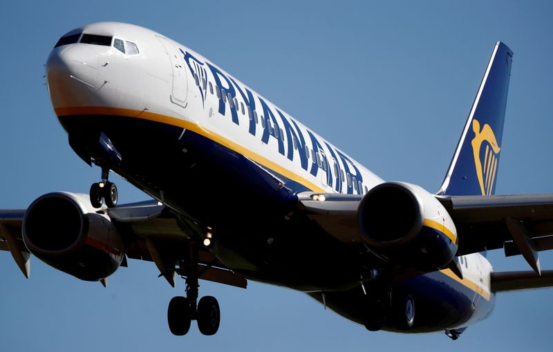 LYNXMPEH6P07Z L - شرکت هواپیمایی Ryanair به ترافیک سالانه اشاره می کند، کاهش سه ماه اول کمتر از حد انتظارمان بود