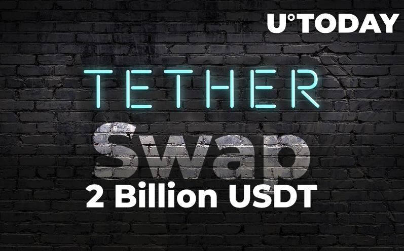 2021 08 24 17 20 05 Tether Performing Two Billion USDT Swap - تتر ۲ میلیارد USDT را جابجا می کند