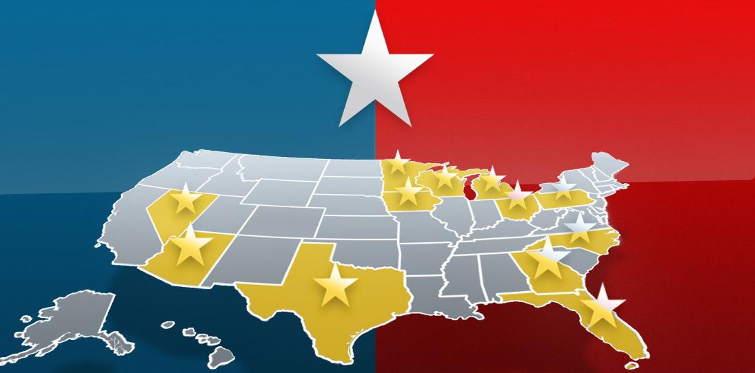 swing states - حدود 30 درصد از رأی دهندگان ایالات کلیدی، خواهان قانونی شدن پرداخت با بیت کوین می باشند